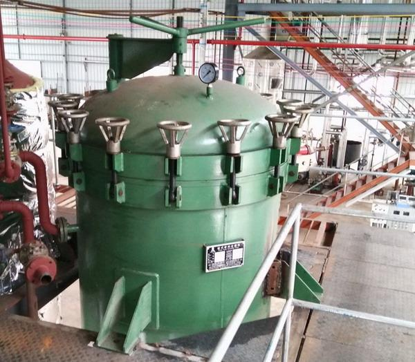 NYB25 Stainless Steel Vertical Pressure Leaf Filter For Edible Oil Industry