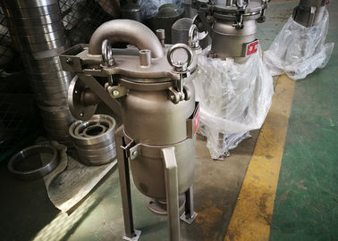 China Stainless Steel Bag Type Filter , Vegetable Oil Filter Food Standard factory